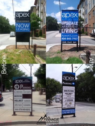 Apartments Directional Parking Outdoor Signage