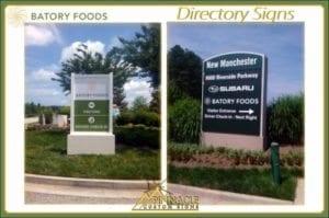 Roadside Directory Sign