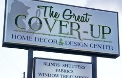 The great cover up pylon sign